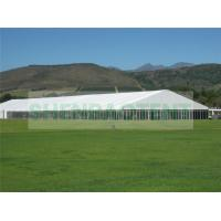 China Clear Span Marquee Catering Tents With Glass Wall Aluminium Profile 4 Meter Height on sale