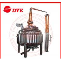 Quality 1200L Copper Pot Still Alcohol Industrial Distillation Equipment CE for sale