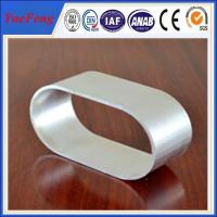 Quality Industrial use 6063 natural color Oval Aluminum Extrusion of anodizing for sale