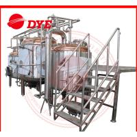 Quality 380V 1000L Full-Automatic Beer Brewing Tanks Gas Heating With Lauter Tun for sale