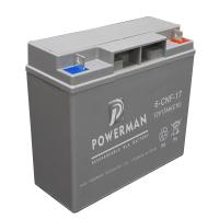 Quality Powerman 12V 17Ah Lead Acid UPS Solar maintenance free storage battery  from chinese suppliers or manufacturers for sale