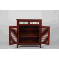 Buy Walnut Office / Home Storage Cabinets With Doors Soild Wood L81*W38.5*H91CM at wholesale prices