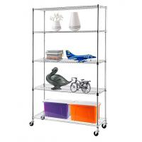 Quality H175 Chrome Plating  Display Shelf Floor Standing Display Unit Easy To Install Mobile Rack with 4pcs Casters for sale