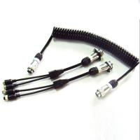 Quality 5 Pin PU Coiled Trailer Cable , Spiral Electrical Cable For Back Rear Camera for sale