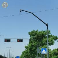 Quality Road Traffic Security Camera Lamp Post With Painting 5mm Thickness Polygonal Type for sale