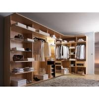 Quality Modern style veneer door designs L-shaped wood clothes closet for sale