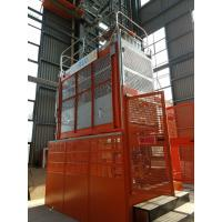 Buy 2 Tons 60m Orange Painted Rack And Pinion Hoist , Material Lifting Equipment at wholesale prices