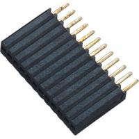 Quality 1*12P H=8.5 Female Header Connector Connector 1.27 Mm Pitch Phosphor Bronze for sale