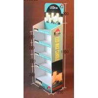 Multi Tier Retail Cardboard Floor Displays,Candle product paper display rack, Withstand weight: 10lbs-20lbs