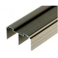Quality Golden / Silver Anodized Profile Aluminum Extrusions For Curtain Wall for sale