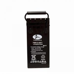 Quality 31kg 12 Volt 55ah Agm Deep Cycle Battery Front Terminal Batteries For Telecom for sale