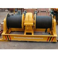 Quality Fast speed double drum electrical wire rope winch shipyard apply for sale