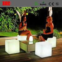 Quality Plastic LED  Cube luminous Stool for party patio  chirstmas decorating for sale