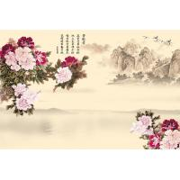 Quality Peony Bamboo Fiber Fiber Wall Panels Crystal Surface For Restaurant Background Wall for sale