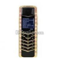 Quality Luxury Signature Diamonds Rose Gold Pink Sapphires Mobile Phone for sale