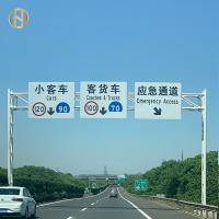 Quality Galvanized Q235B Steel Road Sign Pole 3-20M Mounting Height High Durability for sale