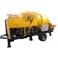 Quality Mobile Diesel Concrete Mixing And Pumping Machine 40m3/H With S Gate Valve for sale