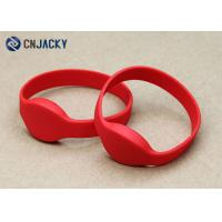 Buy cheap Waterproof NFC Ntag203/213/216 Rfid Wristbands For Events In Red Color from wholesalers