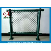 Buy cheap Anti-Corossion Diamond 3.0mm Wire Mesh Fence Hot Dipped Galvanized Dark Green from wholesalers