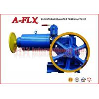 Quality Lift Winch VVVF control Geared Elevator Traction Machine , DC110V 1.1A for sale