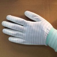Quality stripped ESD anti static PU coated gloves for electronic factory use for sale