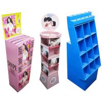 Quality Cosmetic Retail Cardboard Floor Display , Boxes Style With Oil Printing for sale