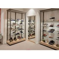 Quality Durable Inexpensive Shoe Display Cabinet / Glass Shoe Shelves Simple Modern Design for sale