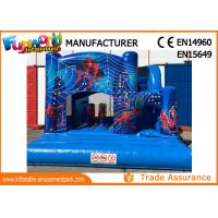 Buy cheap Bule Commercial Inflatable Slide / Castillos Hinchables Spiderman Jumping Castle from wholesalers