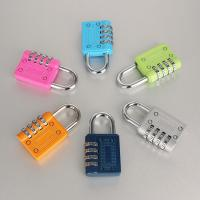 Buy 4 Digit Weatherproof Resettable Combination Padlock Multi Color For Travel Suitcase at wholesale prices