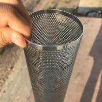 Quality Perforated Mesh Screen Filter Tube Cartridge / Cylindrical Metal Mesh Filter Screen for sale