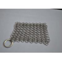 Quality Polished 316L Ring Wire Stainless Steel Chainmail Scrubber For Food for sale