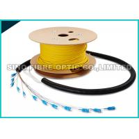 Quality Pre - Terms Fanout 0.9MM SC Fiber Optic Cable 12 Core 50M Length 1000 Mating Cycles for sale