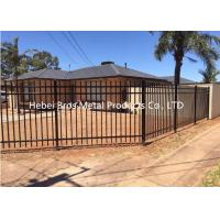 Quality Commercial Zinc Steel Fence , Ornamental Galvanized Steel Tube Fence Panels for sale