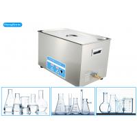 China Chemical Resistant Laboratory Ultrasonic Cleaner For Laboratory Instrument 15L 300W on sale