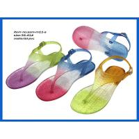 Buy Hot pink ladies sex PVC flip flop flat thong woman sandals 2014 ASM-M11 at wholesale prices