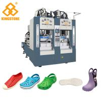Quality Rain Boots Plastic Chappal Making Machine , Vertical Shoe Sole Mould Making Machine for sale