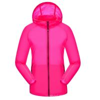 Quality Outdoor Couple Ultra Thin Summer Skin Clothes With Hood for sale