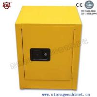 Quality Stainless Steel Iron Coated Flammable Yellow Powder  Chemical Storage Cabinets For Laboratory  /  Bench Top for sale
