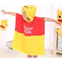 Quality Reactive Print Thick Hooded Poncho Towel Harmless Multicolor For Kids for sale