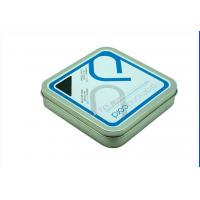 China Printed Custom Square Tin Box  Gift Cards Metal Packaging With Embossing on sale