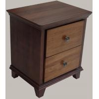Quality Antique Style Hotel Bedside Tables With 2 Drawers , Solid Wood Edge for sale