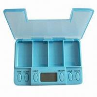Quality Vibrating Pillbox with 5 Alarm Settings for sale