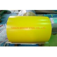 Buy Yellow Blue Red SGCC Galvanized Color Coated Steel Coil With 900mm - 1250mm at wholesale prices