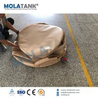 Quality Molatank PVC TPU Collapsible Bladder Inflatable Water Storage Tanks , High Strength Coated Fabric for sale