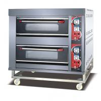 Buy Economic Gas Deck Oven LPG Gas Front Stainless Steel 2 Deck 4 Trays Deck Oven at wholesale prices