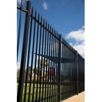 Wrought Iron Gates And Steel Barriers: Black Powder Coated Tubular Fence / Steel Fence / Wrought