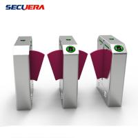Quality RFID Card Reader Access Control Flap Barrier Turnstile with Fashion Style Design for sale