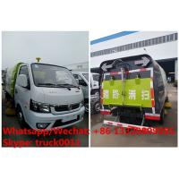 Quality cheapest price dongfeng 4*2 LHD gasoline road cleaning truck for sale, street sweeping truck, road sweeper vehicle for sale