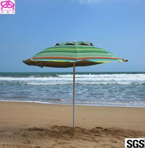Quality Custom leisure summer outdoor sun beach umbrella , beach umbrella parasol with logo prints for sale