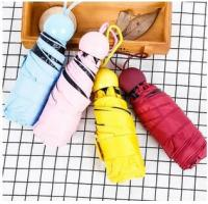 Quality Ladies Mini Lightweight Folding Umbrella , Compact Pocket UmbrellaAluminum Frame for sale